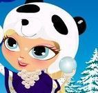 Roupas da garotinha na neve