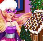 Super Barbie decorar casa de biscoito