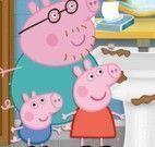 Peppa Pig limpeza do banheiro