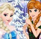 Elsa e Anna fazer doces