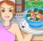 Fazer receita de salada de legumes