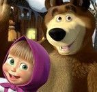 Masha e Bear achar objetos