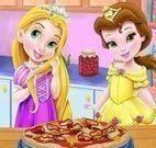 Bela e Rapunzel fazer pizza
