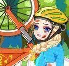 Elsa acidente de bicicleta