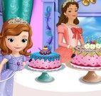Fazer bolo da princesa Sofia