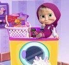 Masha bebê lavanderia