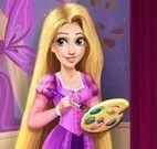 Rapunzel limpar e decorar casa