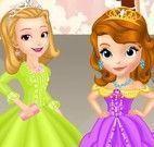 Sofia e Amber roupas de desfilar