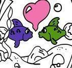 Colorir aquário de peixes