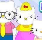 Piquenique da família Hello Kitty