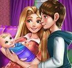 Rapunzel mamãe no hospital