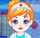 Roupas da bebê veterinária