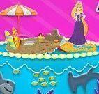 Bolo decorado da Rapunzel