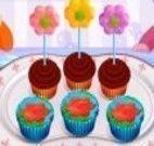 Cupcakes de flores receita