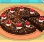 Elsa bolo de chocolate com cereja