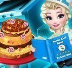 Elsa confeiteira fazer bolo