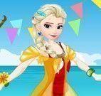 Elsa e Anna roupas da festa na praia