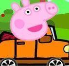 Peppa dirigir carro