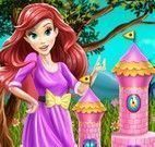 Ariel fazer bolo castelo