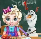 Elsa bebê na escola