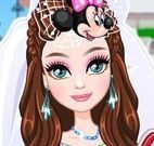 Noiva da Disney vestir e maquiar