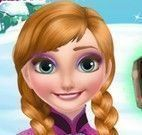 Anna Frozen cuidar do Trol machucado