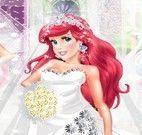 Ariel e Rapunzel moda noiva