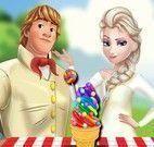 Elsa e Kristoff fazer sorvete