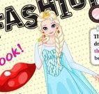 Maquiar e vestir Elsa capa de revista