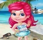 Princesa achar objetos na praia