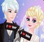 Produção da noiva Elsa
