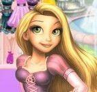 Rapunzel vestir e maquiar