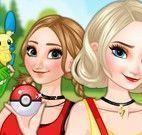 Anna e Elsa roupas de Pokemon