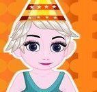 Elsa bebê limpar festa de aniversário