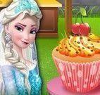 Elsa fazer e decorar cupcakes
