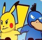 Pikachu e amigo pegar cubos