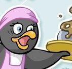 Pinguim servir no restaurante
