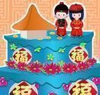 Decorar bolo chinês