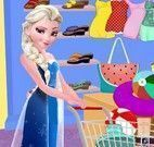 Elsa comprar roupas de praia