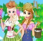 Elsa e Anna roupas festival das uvas