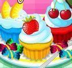 Fazer cupcakes coloridos