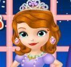 Princesa Sofia e amiga vestir