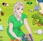 Princesas limpar jardim