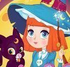 Vestir roupas menina bruxinha