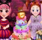 Bolo de Halloween das monstrinhas