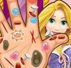Cuidar da mão da Rapunzel