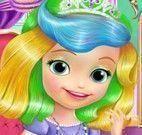 Cuidar dos cabelos da princesa Sofia