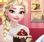 Elsa decorar bolo