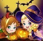 Elsa e Anna bebês Halloween