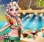 Elsa festa tropical na praia
